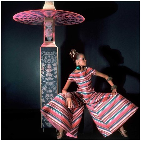 Veruschka does pyjama chic in 1966. Photographed by Horst P. Horst xl