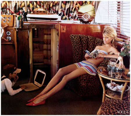 Karolina Kurkova Photographed by Arthur Elgort, Vogue, June 2002