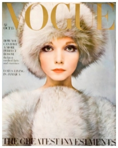 Lesley Jones Vogue cover Photographed by Barry Lategan