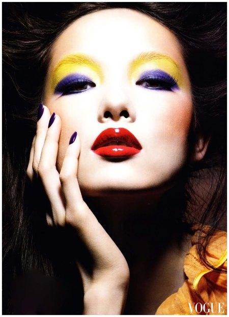 Raymond Meier  Sun Fei Fei in 'Colour Kaleidoscope', Vogue China, March 2011