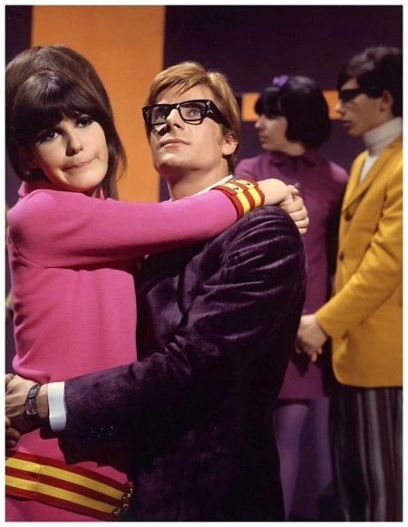 Giancarlo Giannini and Mita Medici in the film %22Non stuzzicate la zanzara%22,directed by Lina Wertmüller, photo by Pierluigi Praturlon Rome, 1967