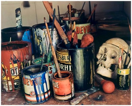 Jackson Pollock's Paints, Long Island, 1988