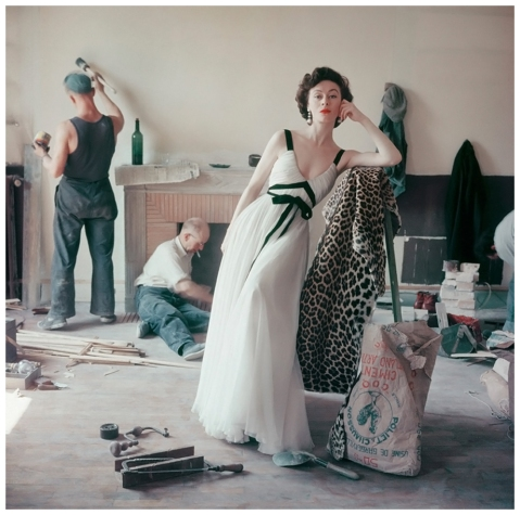 Model in Griffe Gown Model Gigi Paris 1955 Photo Mark Shaw