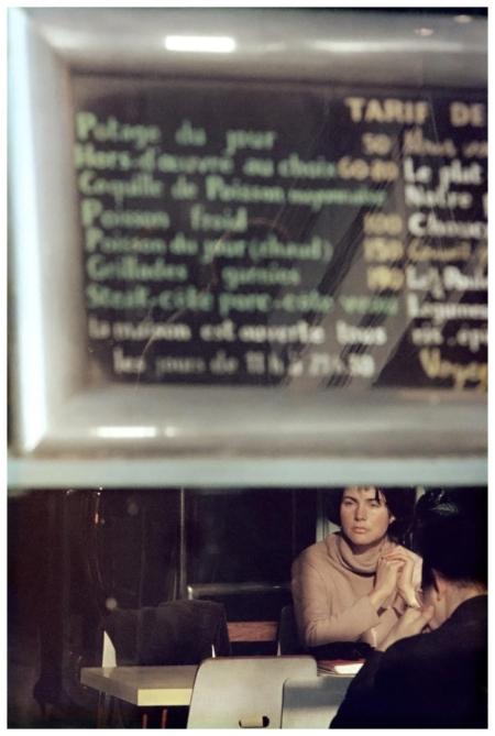 Saul Leiter - Menu Paris 1959