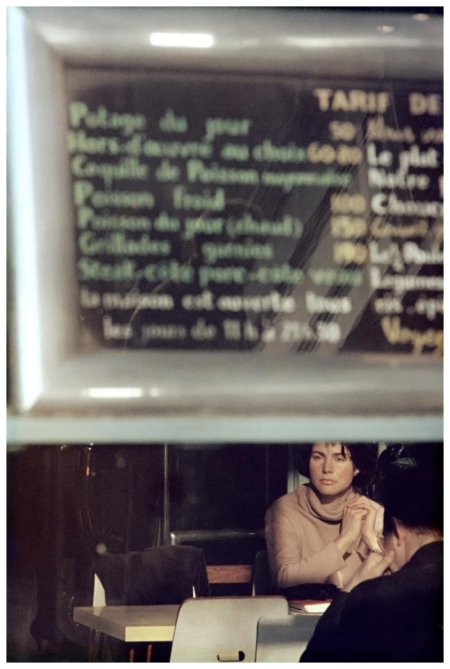 Saul Leiter - Menu Paris 1959