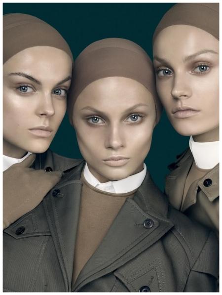 Viktoriya Sasonkina, Anna Selezneva, and Anna Jagodzinska Vogue Italia (Jan. 2010) - Form Function by Steven Meisel