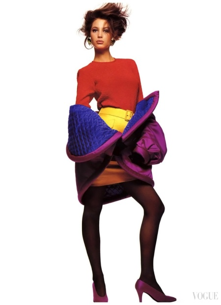 1987 Vogue Uk - Photo Patrick Demarchelier - Christy Turlington