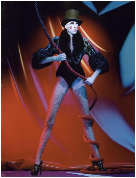 Adina Forizs Photographed by Miles Aldridge for Numero (#89) January 2008  Hermes