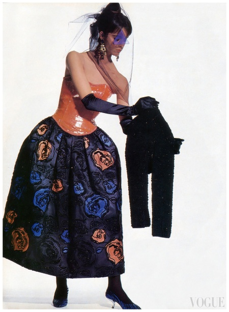 Photo Irving Penn Vogue September 1988 Cristiana Mucci