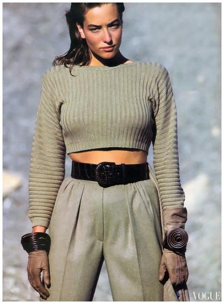 Photo Wayne Maser Vogue sept 1988 Tatjana Patitz
