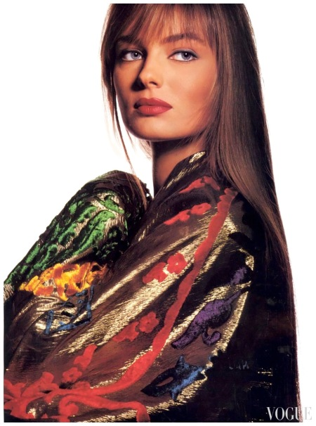 US Vogue October 1989 Photo Irving Penn Models Paulina Porizkova a