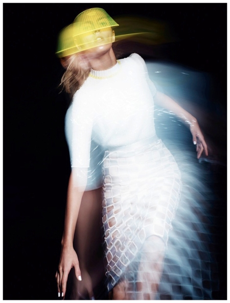 Anja Rubik by Jan Welters for Elle UK February 2013 a