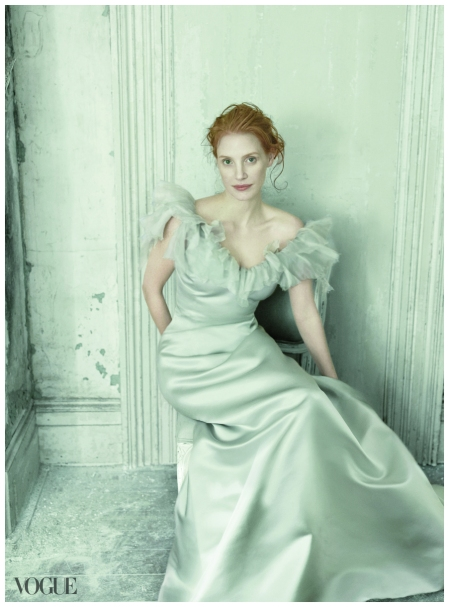 Chastain says. Here she reenacts Anders Zorn's 1899 portrait of Frances Folsom Cleveland