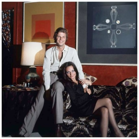 Egon and Diane von Furstenberg in their Manhattan apartment. Circa January 1972 Photo Horst P. Horst