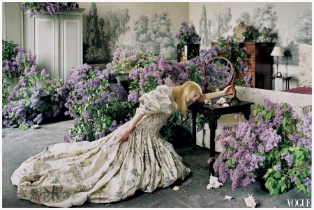 Vogue On Alexander McQueen - A dress from 2006's Neptune collection, Photo Tim Walker Vogue