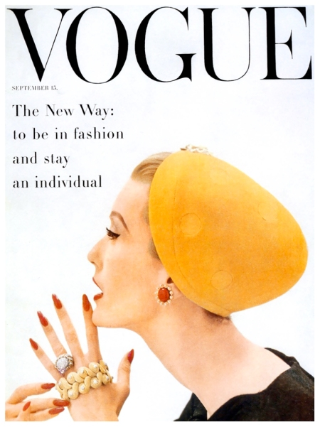 1955 Mary Jane Russel, Vogue cover by John Rawlings, September 15, 1955