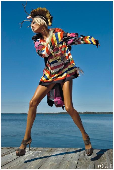 Anja Rubik - Photo Patrick Demarchelier - Vogue 2008 December