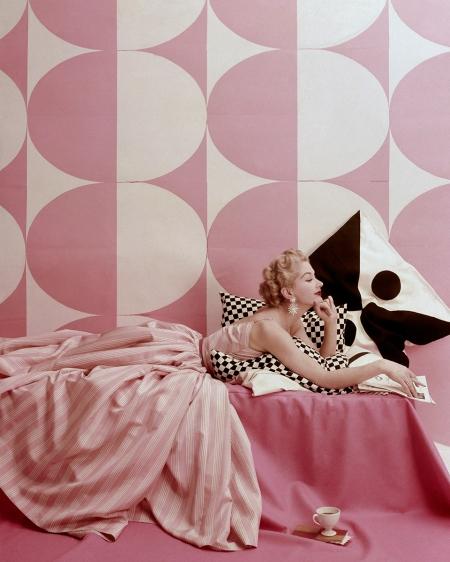 "Lisa Fonssagrives in ""Spice Pinks to Summer In""  Richard Rutledge, Vogue, April 15, 1952"