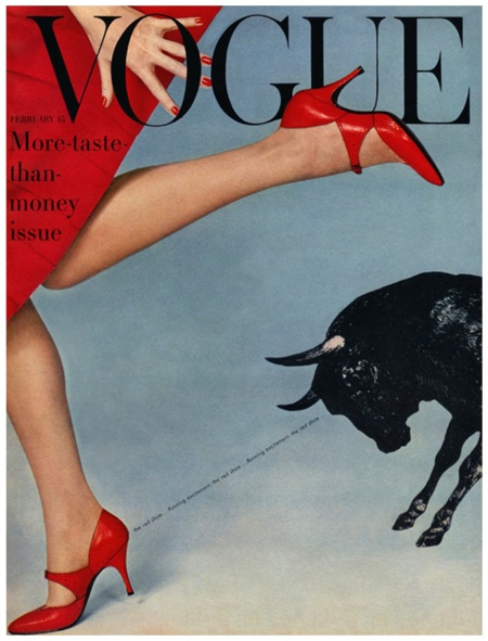Richard Rutledge Vogue Cover - February 1958