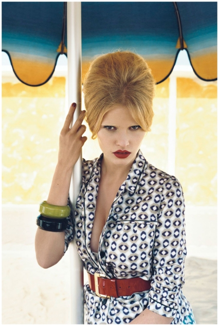 She starred in Emma Summerton's January 2008 Vogue shoot - La Dolce Vita b