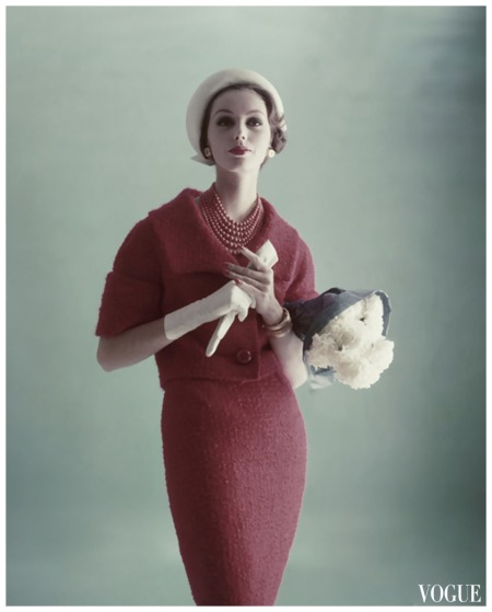 Vogue Feb 1959 Model Lucinda Hollingsworth Photo Karen Radkai