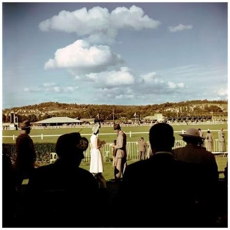 Deauville. August, 1951. Racetrack Photo Robert Capa