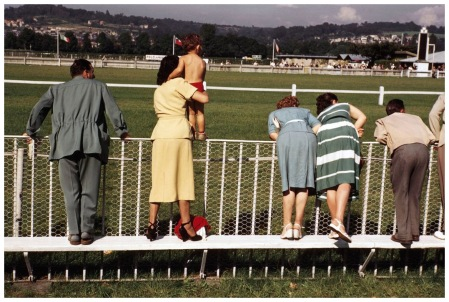 Deauville. August, 1951. Spectators at the racetrack Photo Robert Capa