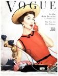 Evelyn Tripp Photo Erwin Blumnfeld, Vogue, April 1953 Cover