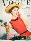 Evelyn Tripp Vogue, April 1953 Photo Erwin Blumnfeld