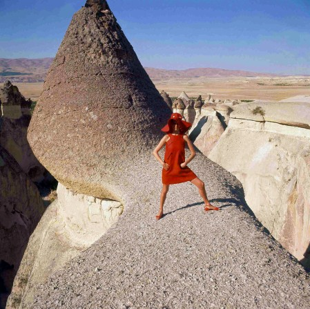Göreme,- Turkey, is the location of this fashion photograph, which appeared in the December 1, 1966, Vogue