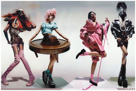 Nick Knight - Dec - 2008 Jourdan Dunn Lily Donaldson
