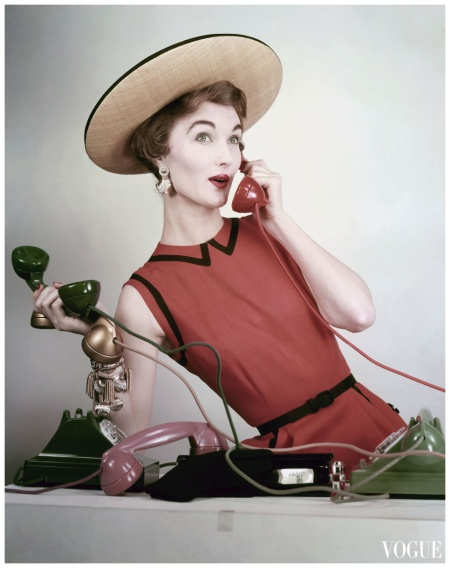 Vogue Cover  Evelyn Tripp Photo Erwin Blumnfeld, Vogue, April 1953