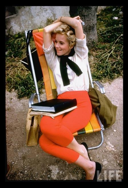 Actress Eva Marie Saint on location in Israel for the filming of %22Exodus. %22 Gjon Mili 1960 Israel