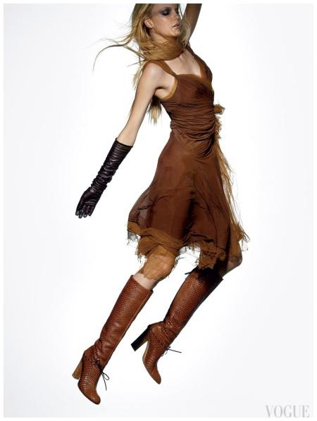 Caroline Trentini Raymond Meier, Vogue, August 2004