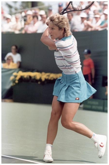 Chris Evert-Lloyd Robert Riger:Getty Images 1986