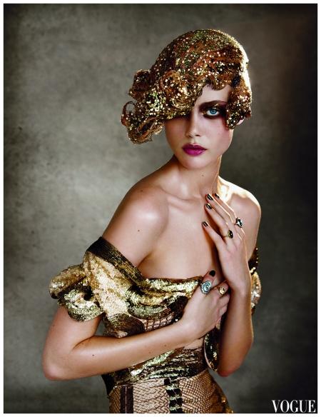 Frida Gustavsson in a L'Wren Scott dress Patrick Demarchelier, Vogue, February 2012