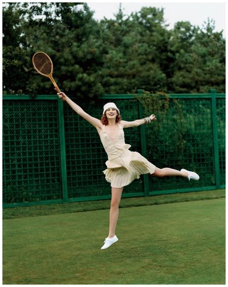 Karen Elson Arthur Elgort, Vogue, November 2003
