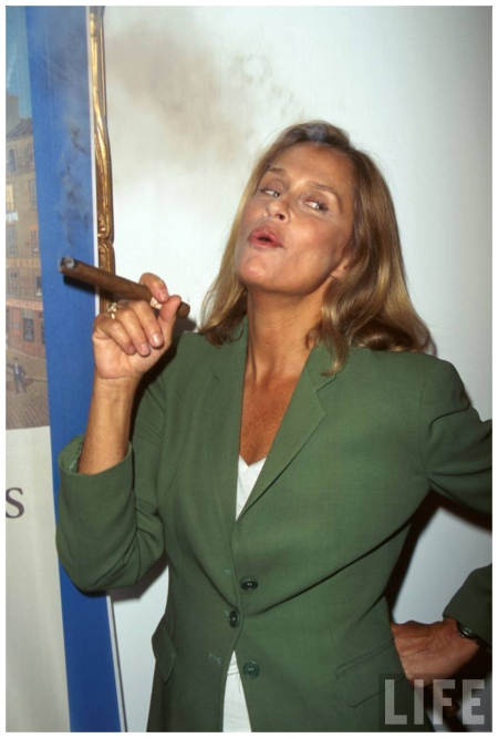 Lauren Hutton, smoking cigar Marion Curtis 1998