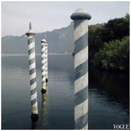 Photographer Leombruno-Bodi ventured to the lake at Sabaudia, Italy Vogue sep 1963