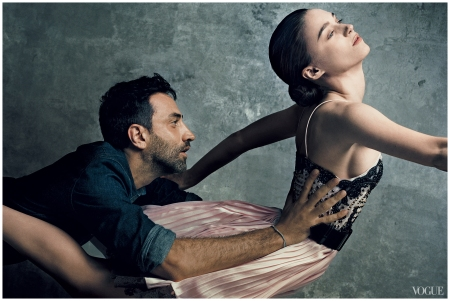 Riccardo Tisci and Rooney Mara Norman Jean Roy, Vogue, September 2012