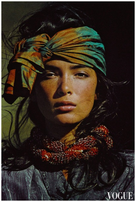 Hans Feurer Vogue US 1985 - Model Linda Spearing