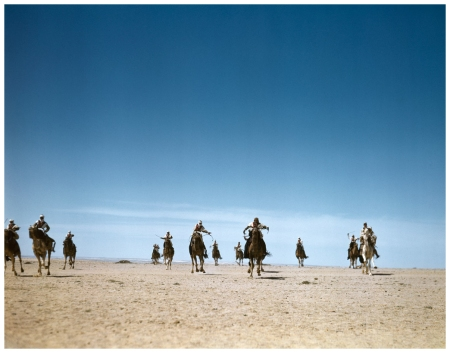 Robert Capa, [The French Camel Corps, the Meharists, practicing maneuvers in the desert, Tunisia], 1943