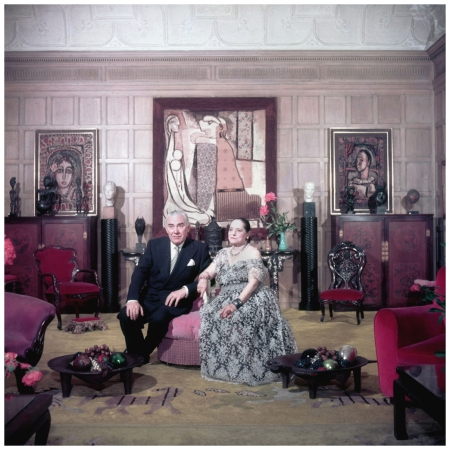 Slim Aarons. Cosmetics Princess Helena Rubenstein and Prince Archil Gourielli, New York, 1950.