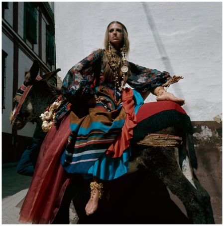 Gypsy styled dress by Donald Brooks, Spain, 1969 Photo Henry Clarke