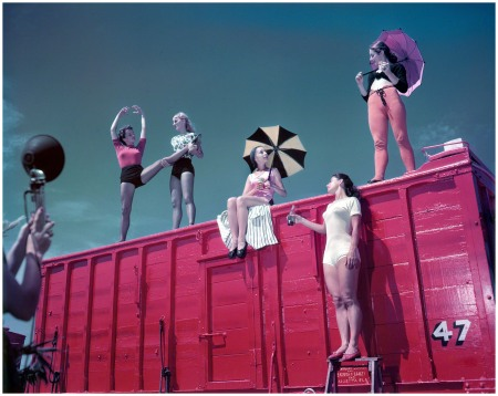 1948. %22Ringling Bros. and Barnum & Bailey Circus.%22 Color transparency for Look magazine by the future film director Stanley Kubrick, who manages to make this look like an avant-garde Coke ad