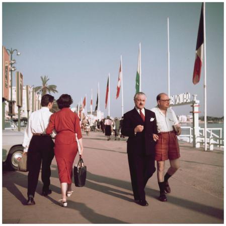 Cannes, boulevard La Croisette 1950's Photo Sem Presser