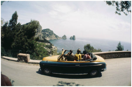 Italy, 1970, Capri, highway along the coast Photo Sem Presser