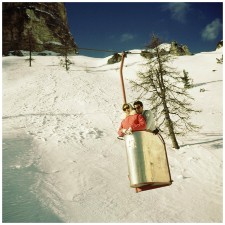 Italy, Cortina d 'Ampezzo, chairlift to Monte Cristallo 1960's Photo Sem Presser