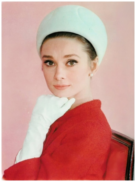 Audrey Hepburn photographed by Bud Fraker at the Studio de Boulogne for the publicity of Charade. Paris, France, 1962