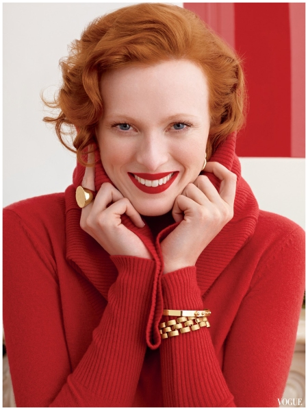 Christmas 2011, Karen Elson, Banana Republic